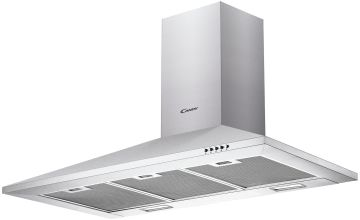 Candy CCE119/1X 90cm Cooker Hood - Stainless Steel