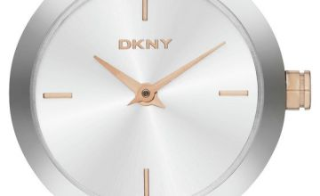 DKNY Ladies Silver Coloured Stainless Steel Watch