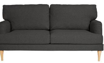 Argos Home Dune 3 Seater Fabric Sofa - Charcoal