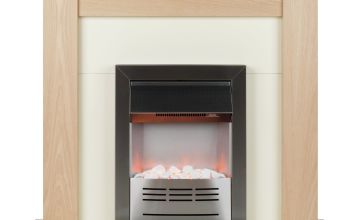 Beldray Earlesworth Electric Fire Suite - Oak and Black