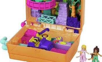 Polly Pocket Polly & Shani Juice Box Safari Playset