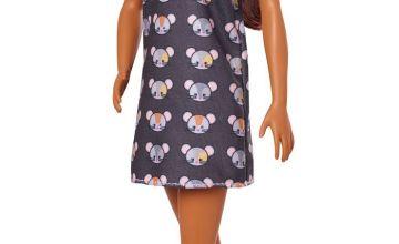 Barbie Fashionista Mouse Print Dress Doll