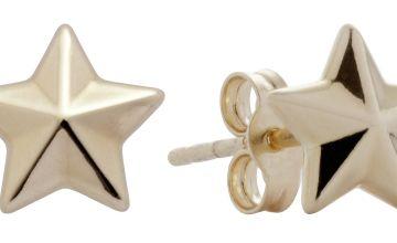 Revere Kids 9ct Gold Star Stud Earrings