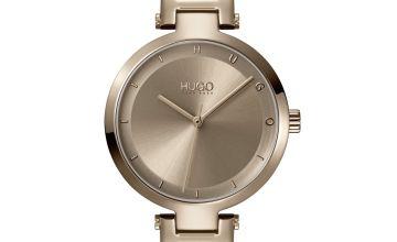 Hugo Ladies Hope Gold Plated Bracelet Watch