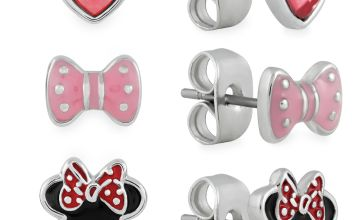 Disney Enamel Minnie Mouse Stud Earrings - Set of 3