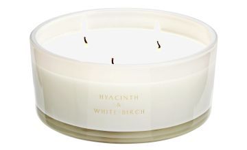 Argos Home Hyacinth and White Birch Multiwick Candle