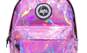 Hype Holographic 18L Backpack - Pink