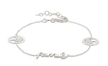 Moon & Back Sterling Silver Family Tree Bracelet