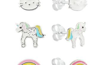 Revere Sterling Silver Set of 3 Unicorn Stud Earrings