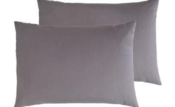 Argos Home Cotton Rich Standard Pillowcase Pair