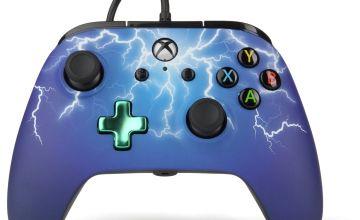 PowerA Xbox One Wired Controller - Purple Lightning