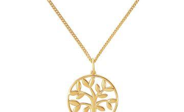Revere Silver Diamond Tree of Life Pendant Necklace