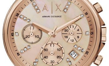 Armani Exchange Rose Gold Coloured Dial Ladies Watch