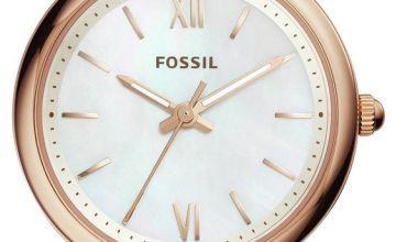 Fossil Carlie Mini Ladies Rose Gold Tone Bracelet Watch