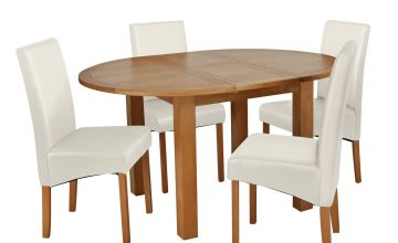 Argos Home Clifton Oak Extending Dining Table & 4 Chairs