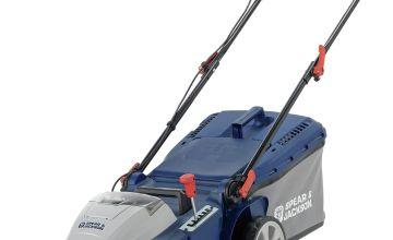Spear & Jackson 42cm Cordless Lawnmower 2x36V 4Ah Batteries