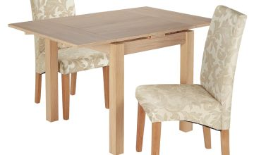 Argos Home Clifton Oak Extending Dining Table & 2 Chairs