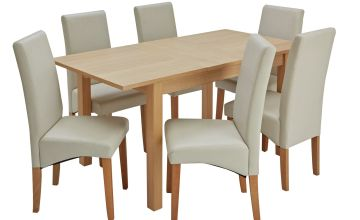 Argos Home Clifton Oak Extending Dining Table & 6 Chairs