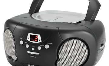 Groov-e Boombox CD Player with Radio - Black
