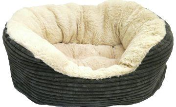 Rosewood Grey Jumbo Cord Plush Bed - Small