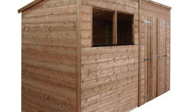 Mercia Wooden 10 x 8ft Shiplap 2 Glazed Window Shed