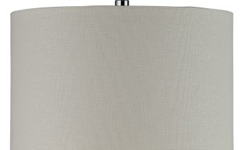 Argos Home Cream Linen Effect 2 Tier Lampshade