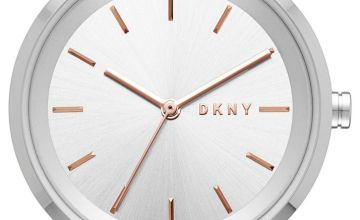DKNY Ladies Silver Coloured Stainless Steel Bracelet Watch