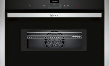 Neff C17MR02N0B 900W Built In Microwave - Black and Silver
