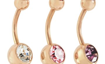 State of Mine 9ct Rose Gold Plated Set of 3 Belly Bars
