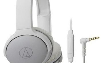 Audio Technica ATH-AR1iS On-Ear Headphones - White