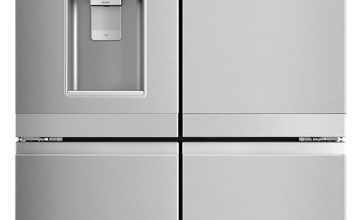 Hotpoint HQ9MO1L American Fridge Freezer - Inox