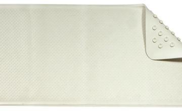 Croydex Anti-Bacterial Rubber Bath Mat - Cream