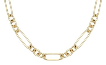 Revere 9ct Gold Plated Large Link Necklace