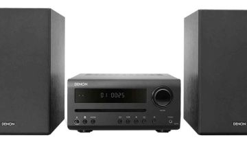 Denon D-T1 Hi-Fi Mini System with CD and Bluetooth- Black