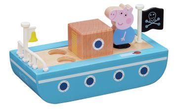 Peppa Pig Peppa's Wood Playboat and Figure Playset