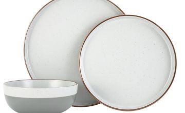 Argos Home Loft Living Speckle 12 Piece Dinner Set - Grey