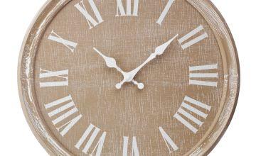 Argos Home Wooden Clock