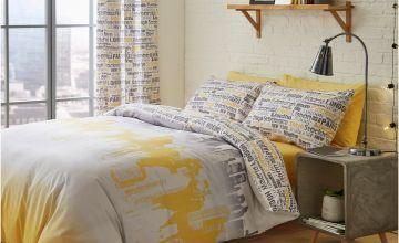 Catherine Lansfield Cityscape Bedding Set - Double