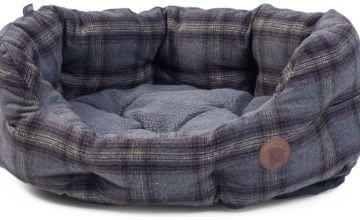 Petface Grey Tweed Oval Pet Bed - Medium