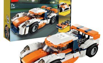 LEGO Creator Sunset Track Racer Set Toy Car & Boat - 31089