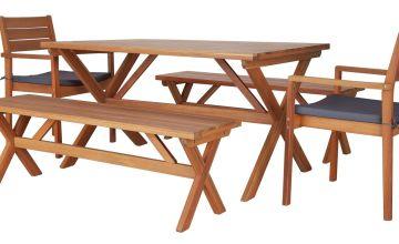 Argos Home Richmond 6 Seater Wooden Patio Set