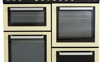 Bush BRC100DHPC Dual Fuel Range Cooker - Cream