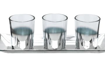 Argos Home Palm Luxe Tealight Holder with Tray