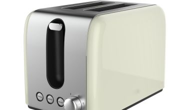 Cookworks Bullet 2 Slice Toaster - Cream