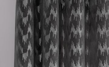 Argos Home Sequin Effect Lined Eyelet Curtains