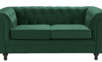 Argos Home Chesterfield 2 Seater Velvet Sofa - Green