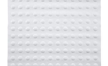 Argos Home Rubber In-Shower Bath Mat - White