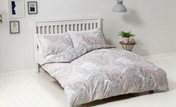 Argos Home Metallic Palm Print Bedding Set