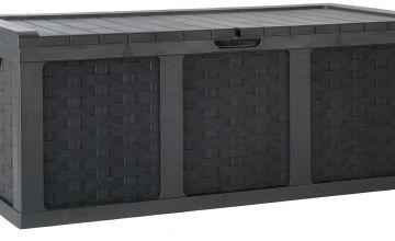McGregor 634L Rattan Storage Box - Black