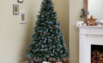 Argos Home 7ft Oscar Pine Cone Christmas Tree - Green